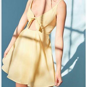 Yellow front tie kimchi blue dress